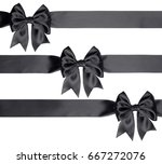set of three bows and ribbons... | Shutterstock . vector #667272076