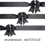 set of three gift bows and... | Shutterstock . vector #667272115