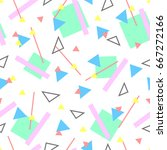 geometric creative colorful... | Shutterstock .eps vector #667272166