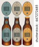 three template beer labels and... | Shutterstock .eps vector #667272685