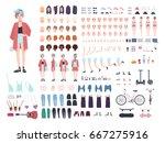 teenager character constructor. ... | Shutterstock .eps vector #667275916