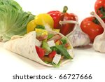 wrap with mixed vegetables ...