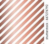 striped rose gold vintage... | Shutterstock .eps vector #667276792