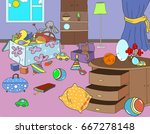 confusion  dirt in the house ...   Shutterstock . vector #667278148