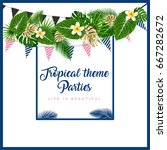 poster or invitation card with... | Shutterstock .eps vector #667282672