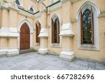 st. john's cathedral is the... | Shutterstock . vector #667282696