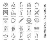 pottery workshop  ceramics... | Shutterstock .eps vector #667285045
