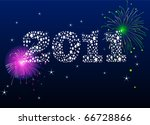 new year's eve background made... | Shutterstock .eps vector #66728866