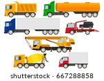 set of trucks icons.trucks ... | Shutterstock .eps vector #667288858
