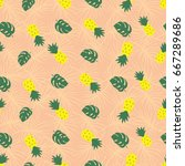 a tropical vector pattern with... | Shutterstock .eps vector #667289686