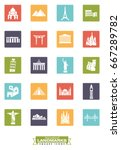 square color icons collection... | Shutterstock .eps vector #667289782