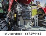 powerful high tech tractor... | Shutterstock . vector #667294468