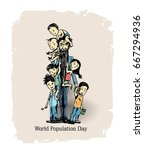 world population day 11 july ... | Shutterstock .eps vector #667294936