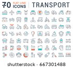 set line icons in flat design... | Shutterstock . vector #667301488