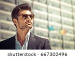 handsome businessman with