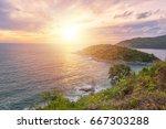 phromthep cape viewpoint in... | Shutterstock . vector #667303288