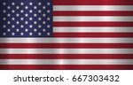 metal usa  united states of... | Shutterstock .eps vector #667303432