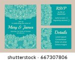 Template Of Wedding Cards With...