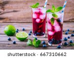 Blueberry Ice Lemonade With...