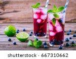 Blueberry Ice Lemonade With...