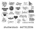 big bundle of 25 vector hand... | Shutterstock .eps vector #667312036