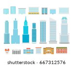 different city elements vector... | Shutterstock .eps vector #667312576