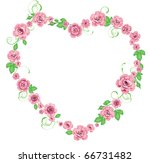 frame with roses | Shutterstock . vector #66731482