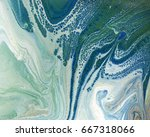 marbled blue and green abstract ... | Shutterstock . vector #667318066
