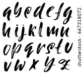 hand drawn elegant calligraphy...   Shutterstock .eps vector #667318072