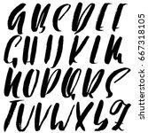 hand drawn elegant calligraphy...   Shutterstock .eps vector #667318105