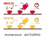 how to prepare tea instruction. ... | Shutterstock .eps vector #667318942