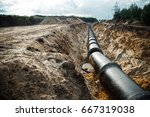 concrete drainage pipes ... | Shutterstock . vector #667319038