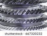 turbine engine. aviation...   Shutterstock . vector #667320232