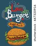 hamburger  food  background ... | Shutterstock .eps vector #667320916
