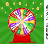 spinning wheel of fortune  win... | Shutterstock .eps vector #667324282