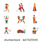 activity icon set | Shutterstock .eps vector #667325545