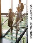 business people walking... | Shutterstock . vector #667326955