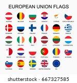 vector illustration set of... | Shutterstock .eps vector #667327585