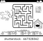 black and white cartoon vector...   Shutterstock .eps vector #667328362