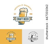 original vintage craft beer... | Shutterstock .eps vector #667331062
