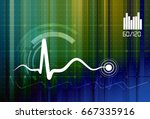 pulse monitoring abstract  ... | Shutterstock .eps vector #667335916