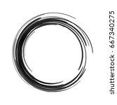 vector black paint brush circle ... | Shutterstock .eps vector #667340275