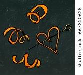 orange peel spiral. savoyar... | Shutterstock .eps vector #667350628