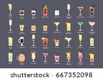 alcoholic cocktails  iba... | Shutterstock .eps vector #667352098