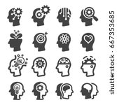 thinking mind icon | Shutterstock .eps vector #667353685