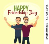 happy friendship day greeting... | Shutterstock .eps vector #667356346