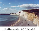 beautiful coastline of the... | Shutterstock . vector #667358596