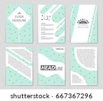 abstract vector layout... | Shutterstock .eps vector #667367296