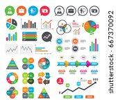 business charts. growth graph.... | Shutterstock . vector #667370092