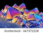 amazing closeup of blue... | Shutterstock . vector #667372228